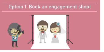 Option 1 - Book Your Engagment Shoot To Enter The Win A Wedding Competition